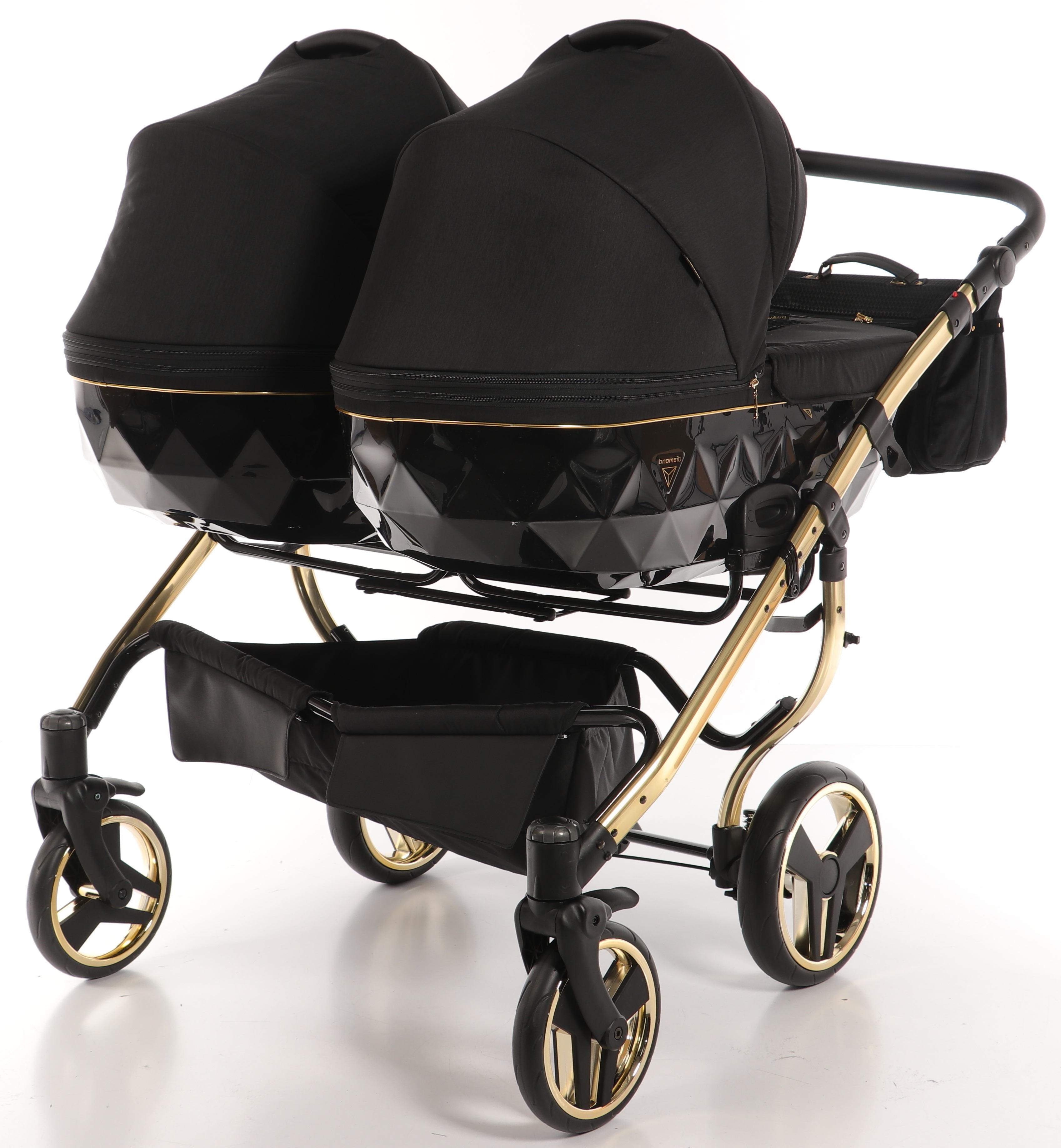 wielofunkcyjny wózek bliźniaczy Junama Diamod S Line Duo nowoczesny elegancki wózek dziecięcy Dadi Shop