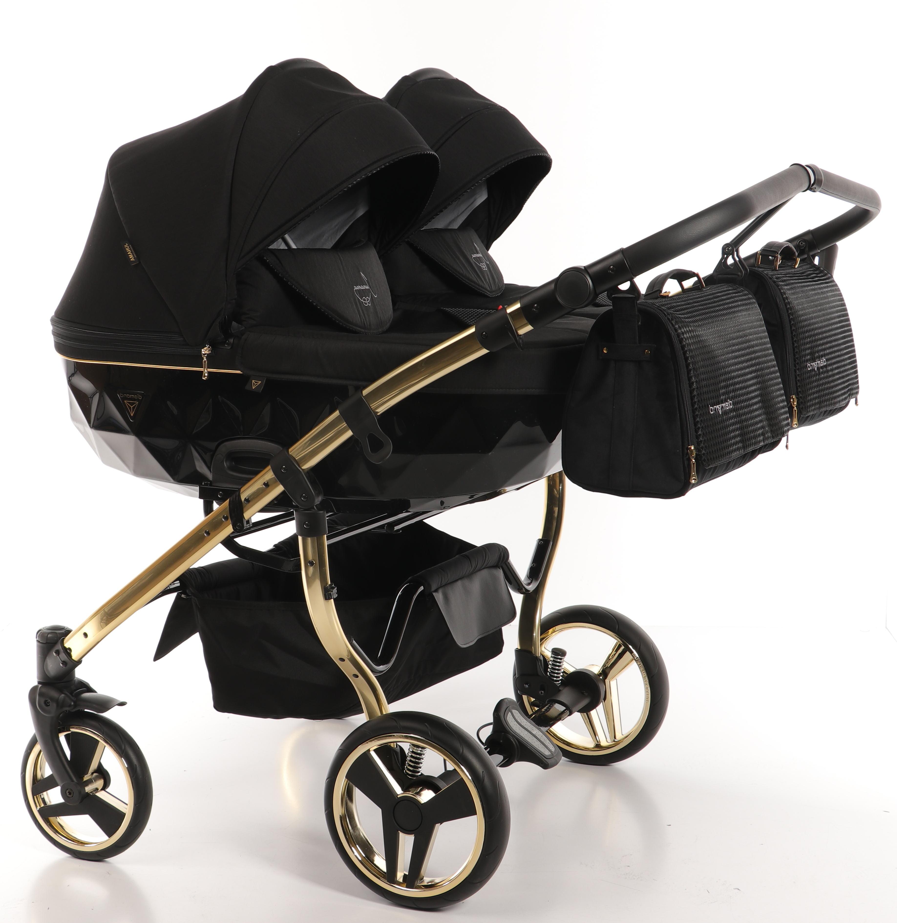 wózek bliźniaczy Junama Diamond S Line Duo wielofunkcyjny głęboko spacerowy Dadi Shop elegancki