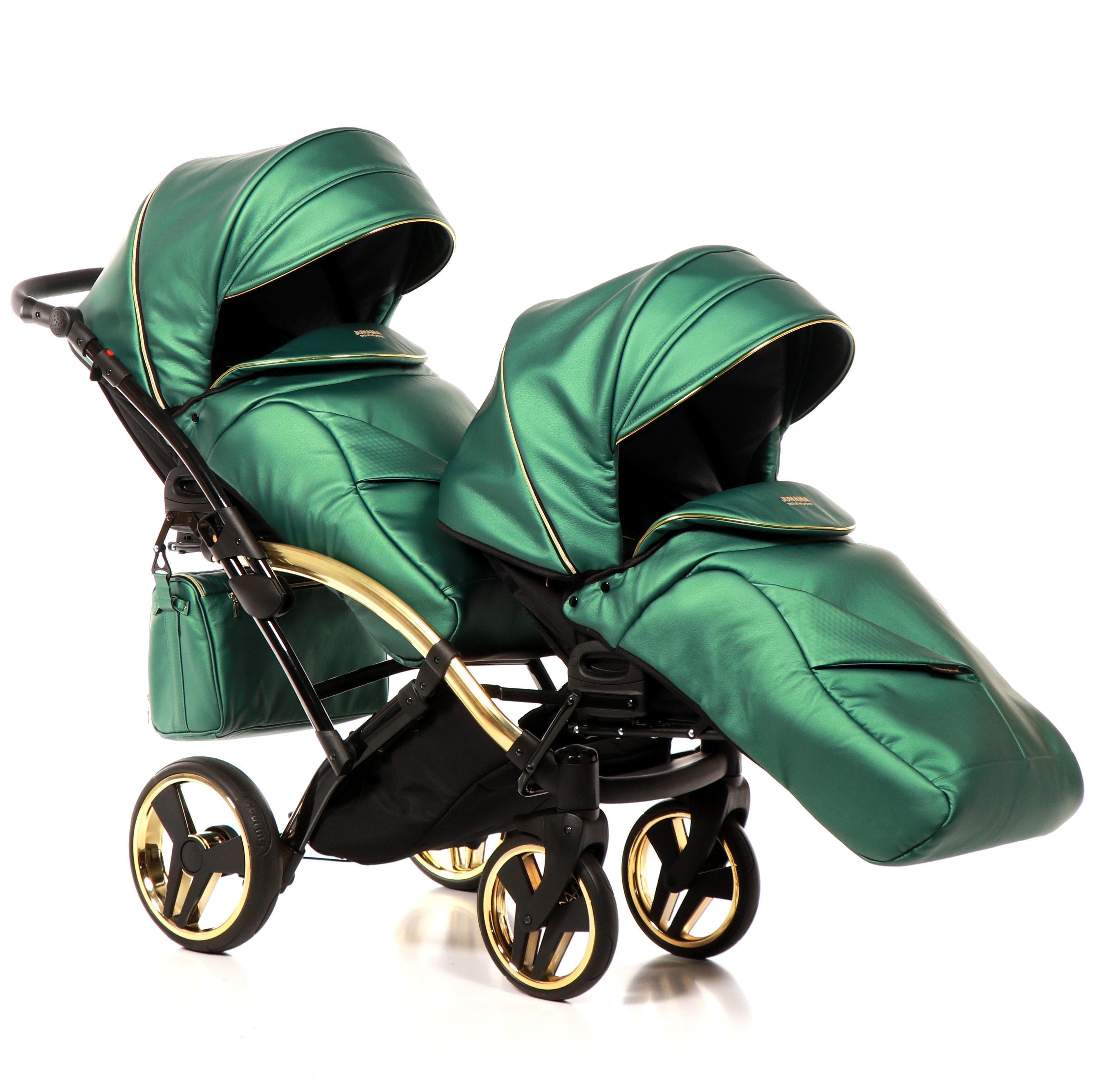 junama fluo line duo slim bliźniaczy wózek dzieciecy jeden za drugim